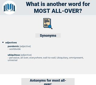 most all over, synonym most all over, another word for most all over, words like most all over, thesaurus most all over