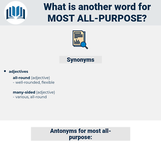 most all purpose, synonym most all purpose, another word for most all purpose, words like most all purpose, thesaurus most all purpose
