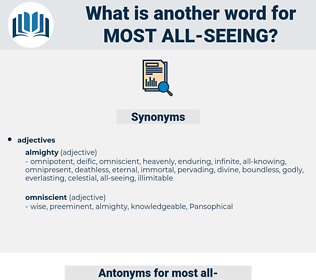 most all seeing, synonym most all seeing, another word for most all seeing, words like most all seeing, thesaurus most all seeing