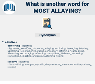 most allaying, synonym most allaying, another word for most allaying, words like most allaying, thesaurus most allaying