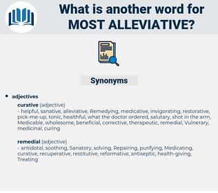 most alleviative, synonym most alleviative, another word for most alleviative, words like most alleviative, thesaurus most alleviative