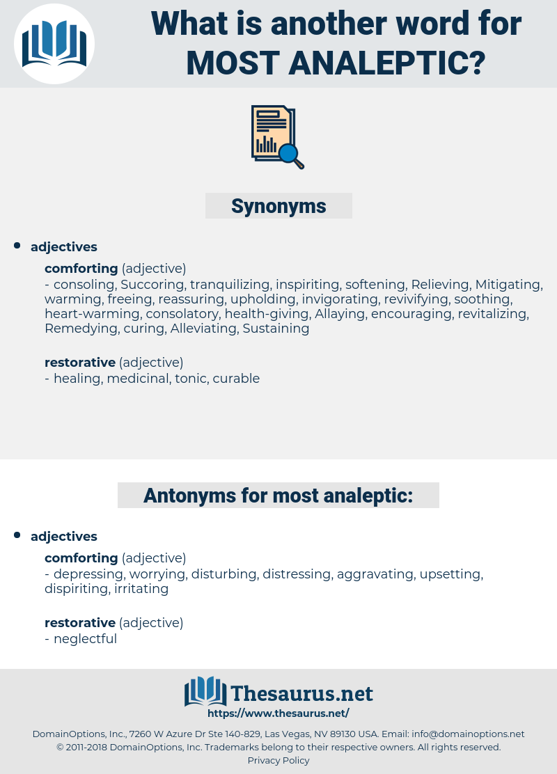most analeptic, synonym most analeptic, another word for most analeptic, words like most analeptic, thesaurus most analeptic