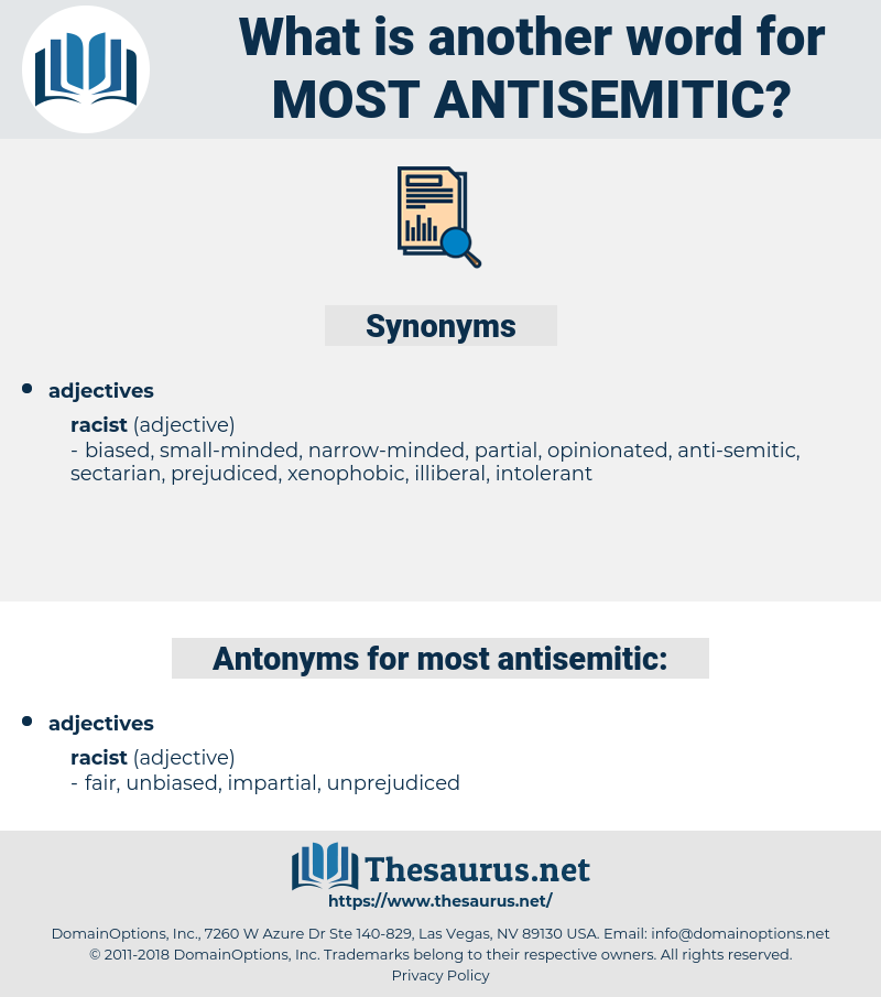 most antisemitic, synonym most antisemitic, another word for most antisemitic, words like most antisemitic, thesaurus most antisemitic