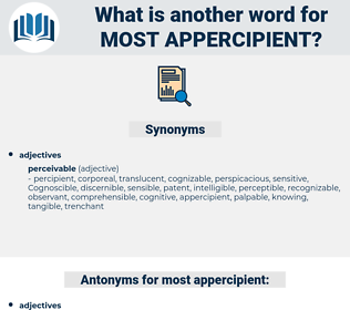 most appercipient, synonym most appercipient, another word for most appercipient, words like most appercipient, thesaurus most appercipient
