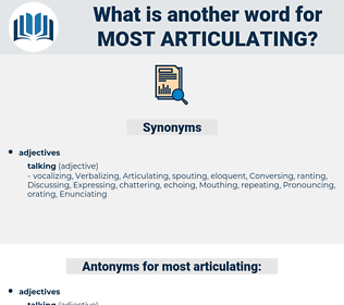 most articulating, synonym most articulating, another word for most articulating, words like most articulating, thesaurus most articulating