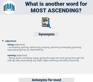 most ascending, synonym most ascending, another word for most ascending, words like most ascending, thesaurus most ascending