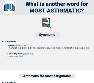 most astigmatic, synonym most astigmatic, another word for most astigmatic, words like most astigmatic, thesaurus most astigmatic