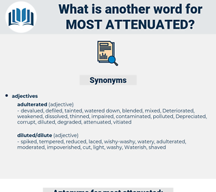 most attenuated, synonym most attenuated, another word for most attenuated, words like most attenuated, thesaurus most attenuated