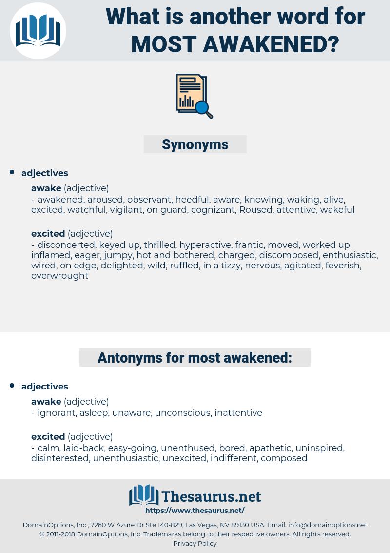 most awakened, synonym most awakened, another word for most awakened, words like most awakened, thesaurus most awakened