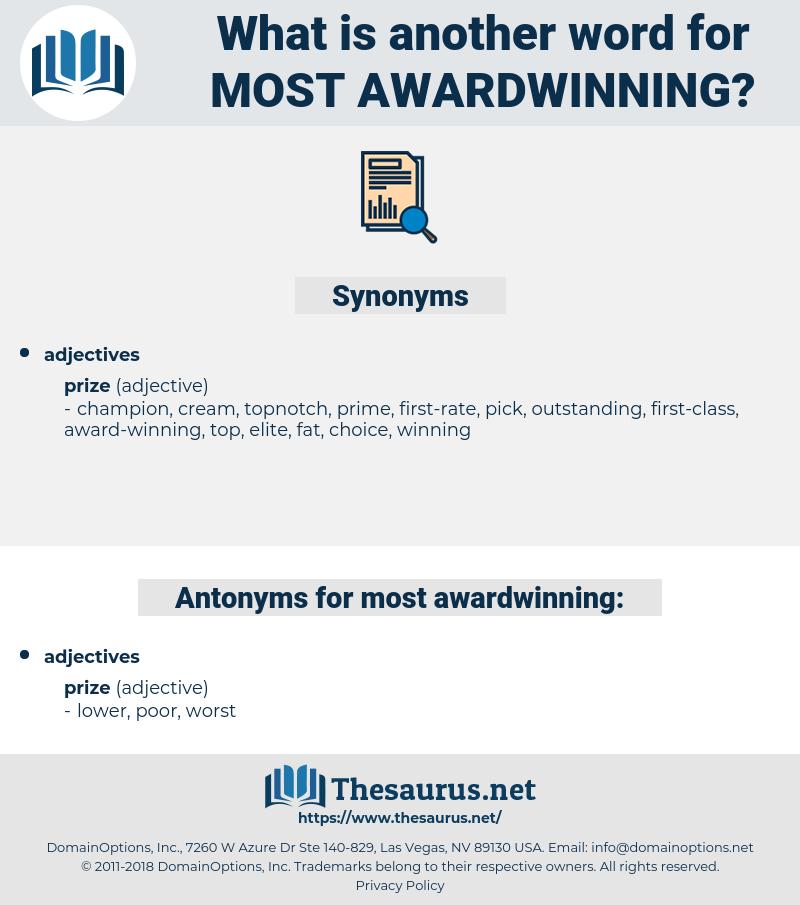 most awardwinning, synonym most awardwinning, another word for most awardwinning, words like most awardwinning, thesaurus most awardwinning