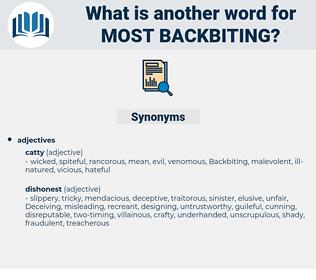 most backbiting, synonym most backbiting, another word for most backbiting, words like most backbiting, thesaurus most backbiting