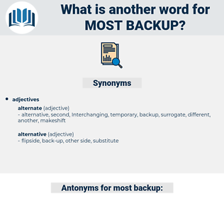 most backup, synonym most backup, another word for most backup, words like most backup, thesaurus most backup