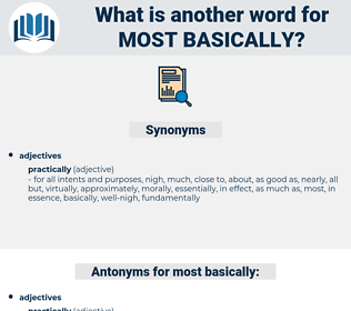most basically, synonym most basically, another word for most basically, words like most basically, thesaurus most basically
