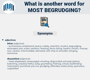most begrudging, synonym most begrudging, another word for most begrudging, words like most begrudging, thesaurus most begrudging