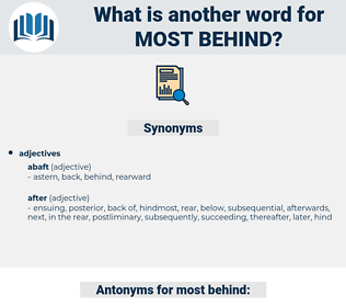 most behind, synonym most behind, another word for most behind, words like most behind, thesaurus most behind