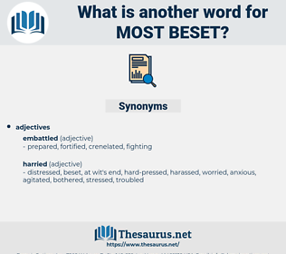 most beset, synonym most beset, another word for most beset, words like most beset, thesaurus most beset