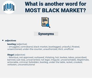 most black-market, synonym most black-market, another word for most black-market, words like most black-market, thesaurus most black-market