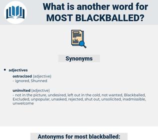 most blackballed, synonym most blackballed, another word for most blackballed, words like most blackballed, thesaurus most blackballed