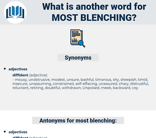 most blenching, synonym most blenching, another word for most blenching, words like most blenching, thesaurus most blenching