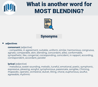 most blending, synonym most blending, another word for most blending, words like most blending, thesaurus most blending