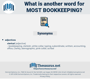 most bookkeeping, synonym most bookkeeping, another word for most bookkeeping, words like most bookkeeping, thesaurus most bookkeeping