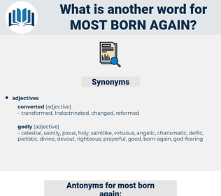 most born again, synonym most born again, another word for most born again, words like most born again, thesaurus most born again