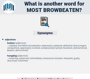 most browbeaten, synonym most browbeaten, another word for most browbeaten, words like most browbeaten, thesaurus most browbeaten