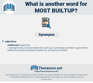 most builtup, synonym most builtup, another word for most builtup, words like most builtup, thesaurus most builtup
