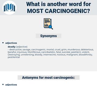 most carcinogenic, synonym most carcinogenic, another word for most carcinogenic, words like most carcinogenic, thesaurus most carcinogenic