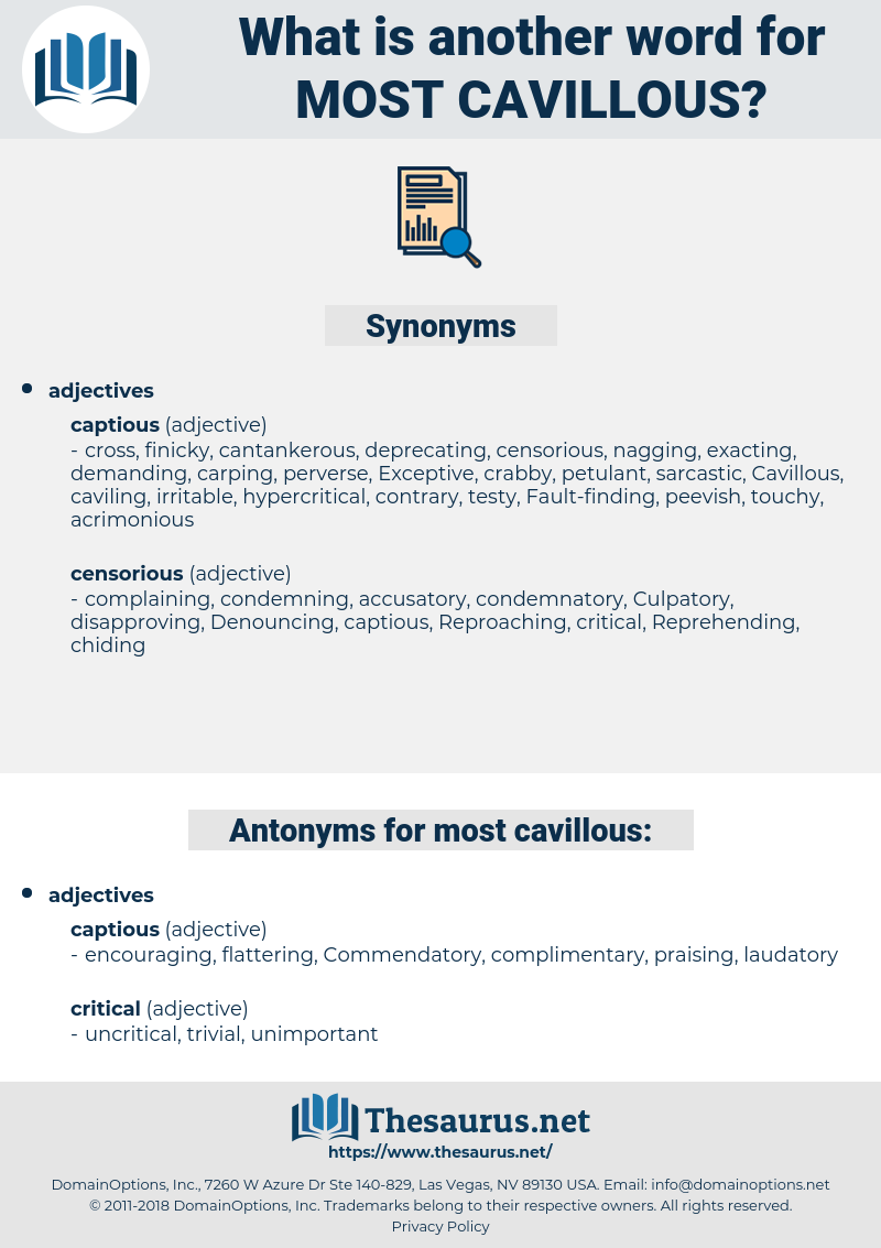 most cavillous, synonym most cavillous, another word for most cavillous, words like most cavillous, thesaurus most cavillous