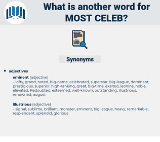 most celeb, synonym most celeb, another word for most celeb, words like most celeb, thesaurus most celeb