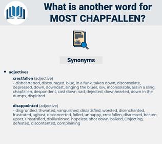 most chapfallen, synonym most chapfallen, another word for most chapfallen, words like most chapfallen, thesaurus most chapfallen