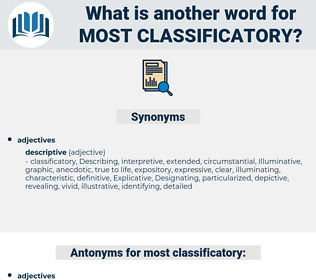 most classificatory, synonym most classificatory, another word for most classificatory, words like most classificatory, thesaurus most classificatory