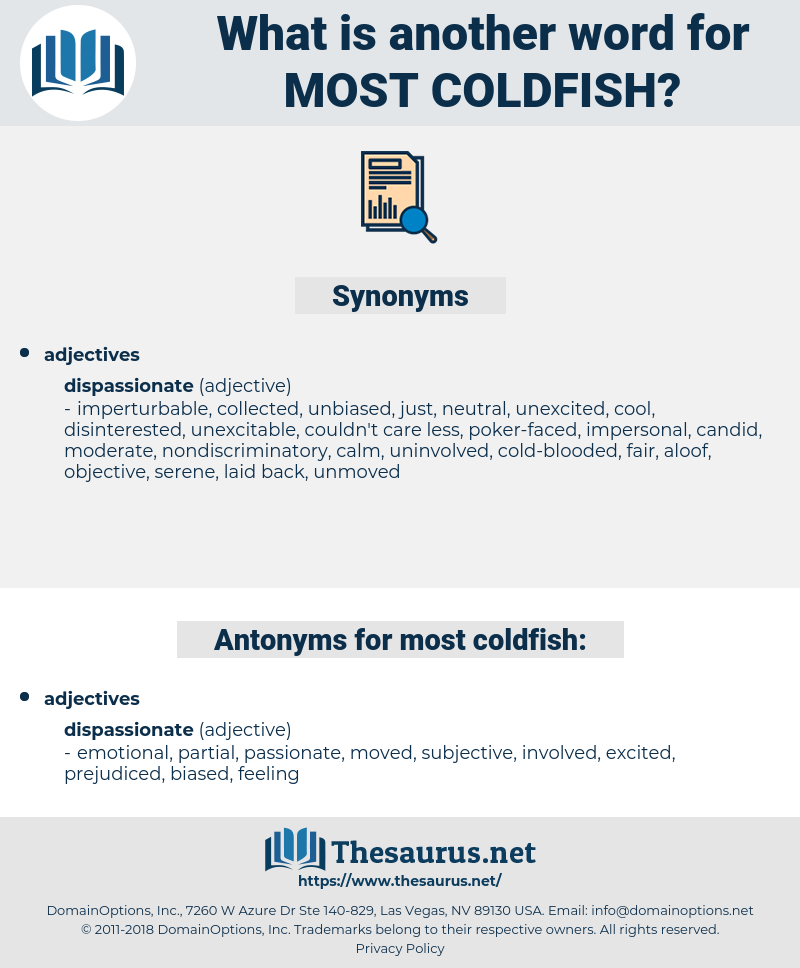 most coldfish, synonym most coldfish, another word for most coldfish, words like most coldfish, thesaurus most coldfish