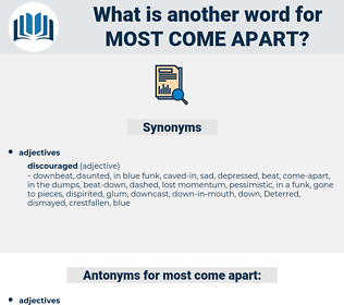 most come-apart, synonym most come-apart, another word for most come-apart, words like most come-apart, thesaurus most come-apart