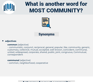 most community, synonym most community, another word for most community, words like most community, thesaurus most community