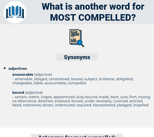 most compelled, synonym most compelled, another word for most compelled, words like most compelled, thesaurus most compelled