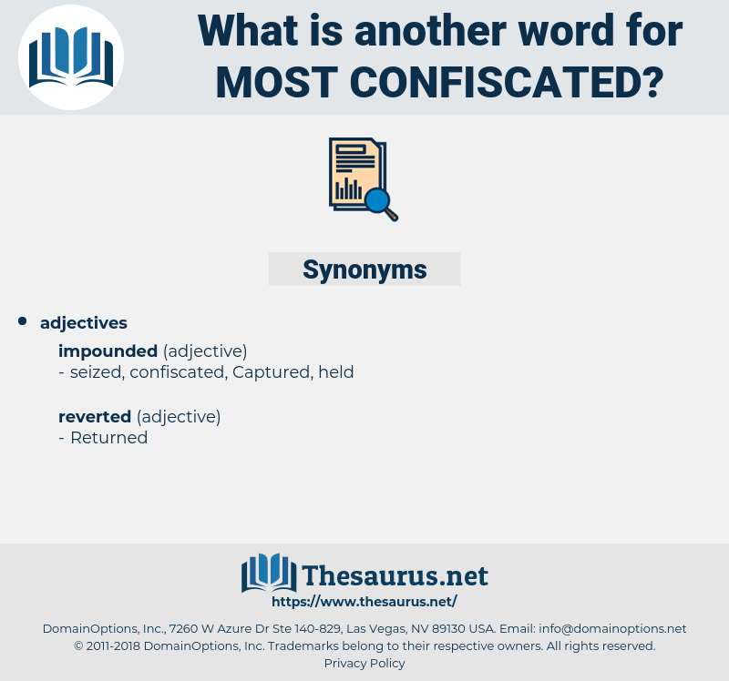 most confiscated, synonym most confiscated, another word for most confiscated, words like most confiscated, thesaurus most confiscated