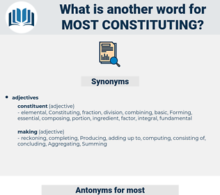 most constituting, synonym most constituting, another word for most constituting, words like most constituting, thesaurus most constituting