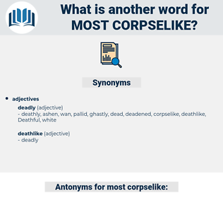most corpselike, synonym most corpselike, another word for most corpselike, words like most corpselike, thesaurus most corpselike
