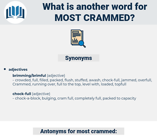 most crammed, synonym most crammed, another word for most crammed, words like most crammed, thesaurus most crammed