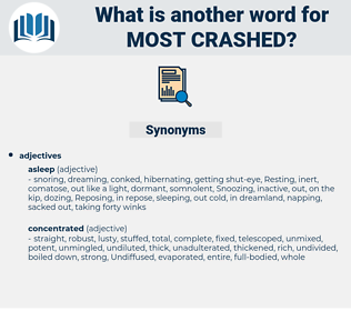 most crashed, synonym most crashed, another word for most crashed, words like most crashed, thesaurus most crashed