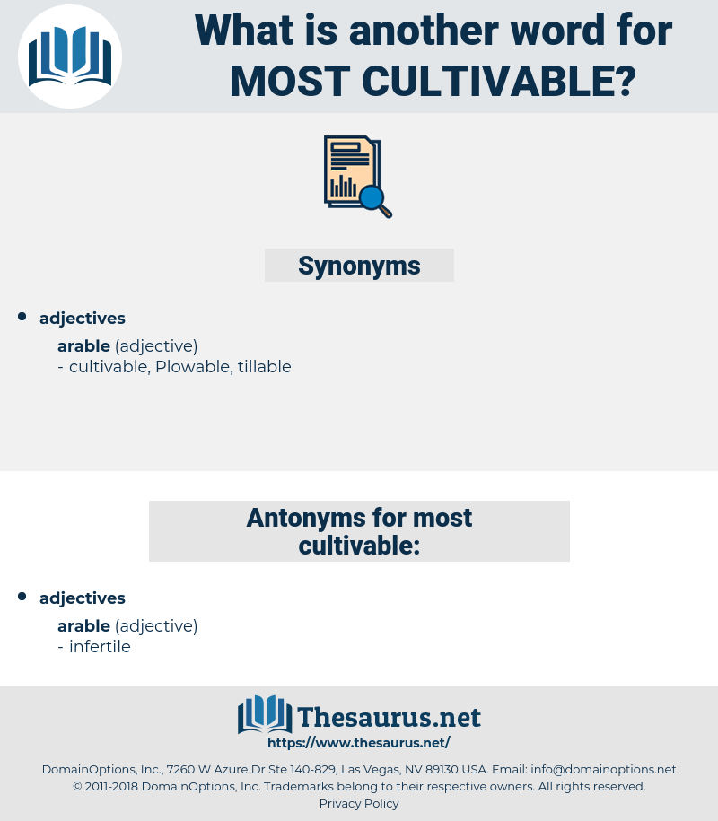 most cultivable, synonym most cultivable, another word for most cultivable, words like most cultivable, thesaurus most cultivable
