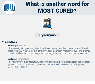 most cured, synonym most cured, another word for most cured, words like most cured, thesaurus most cured