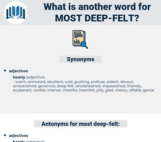 most deep-felt, synonym most deep-felt, another word for most deep-felt, words like most deep-felt, thesaurus most deep-felt