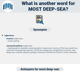 most deep-sea, synonym most deep-sea, another word for most deep-sea, words like most deep-sea, thesaurus most deep-sea