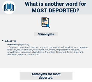 most deported, synonym most deported, another word for most deported, words like most deported, thesaurus most deported