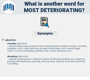 most deteriorating, synonym most deteriorating, another word for most deteriorating, words like most deteriorating, thesaurus most deteriorating
