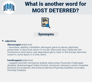 most deterred, synonym most deterred, another word for most deterred, words like most deterred, thesaurus most deterred