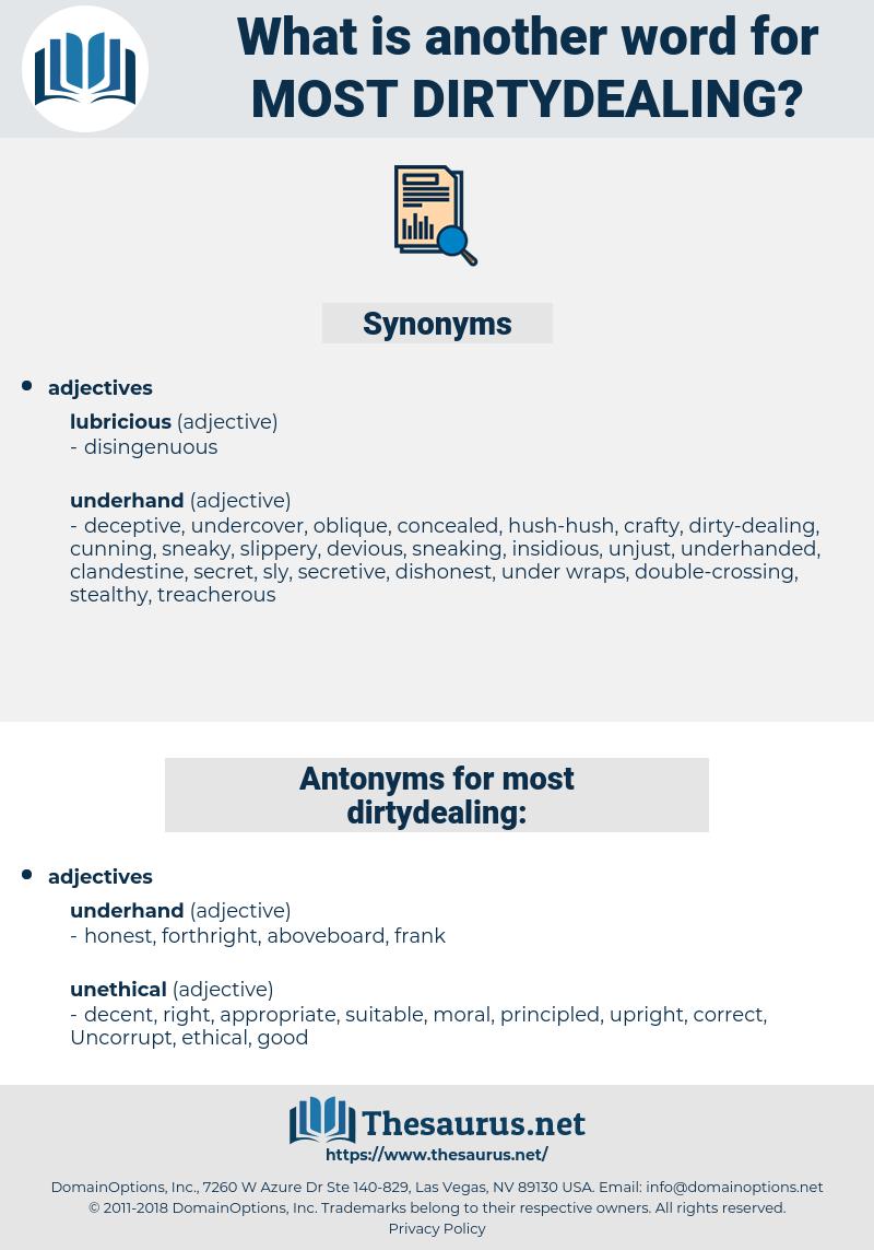 most dirtydealing, synonym most dirtydealing, another word for most dirtydealing, words like most dirtydealing, thesaurus most dirtydealing